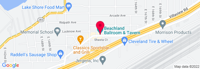 Map for Beachland Tavern