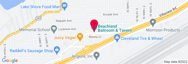 Map for Beachland Ballroom and Tavern