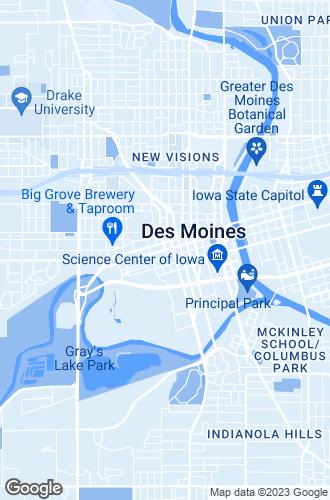 Map of Des Moines
