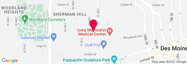 Map for Hoyt Sherman Auditorium