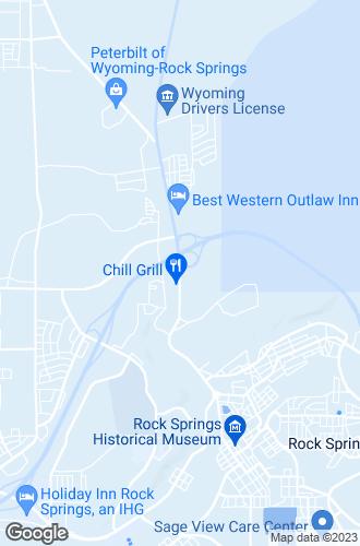 Map of Rock Springs
