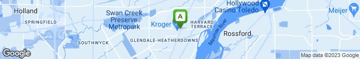 Map of Glendale Garden Cafe
