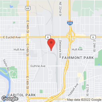 Map of Mighty Auto Parts at 1817 Hull Avenue, Des Moines, IA 50313
