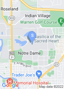 University of Notre Dame map
