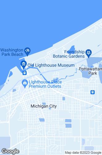 Map of Michigan City