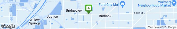 Map of Frank's Chicago Shrimp House