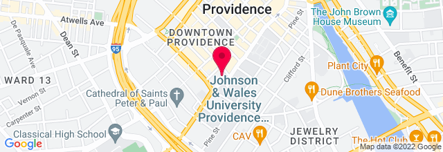 Map for Johnson & Wales University