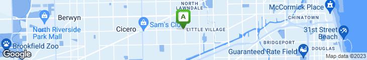 Map of Auro's Cafeteria Y Nieveria