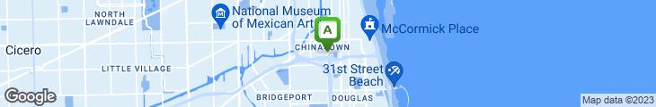Map of Evergreen Restaurant