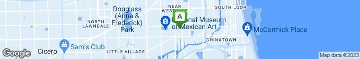Map of Isla Azul