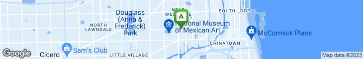 Map of Playa Azul