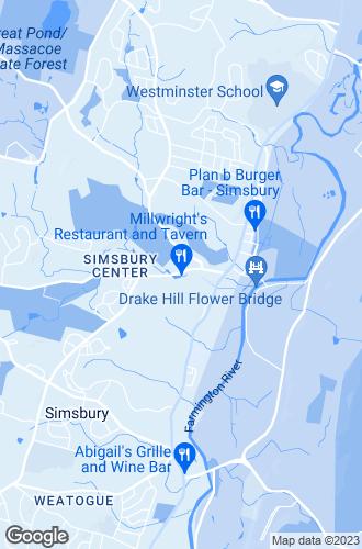 Map of Simsbury