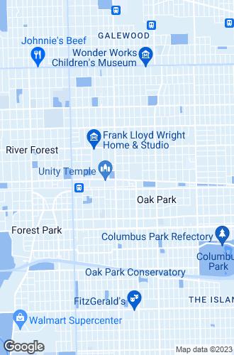 Map of Oak Park