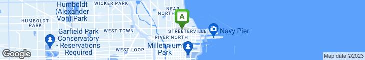 Map of Jake Melnick's Corner Tap