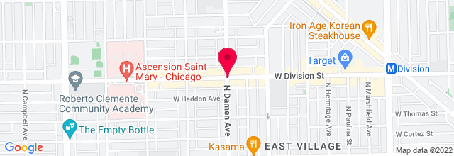Map for Division & Damen