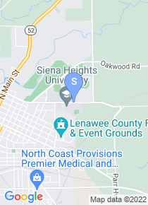 Siena Heights University map