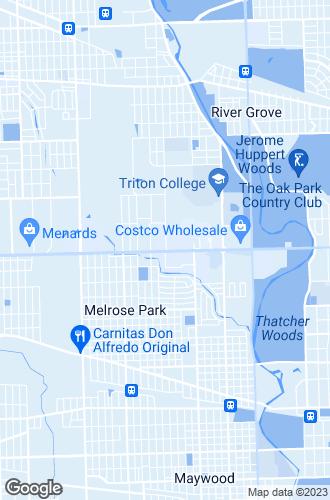 Map of Melrose Park