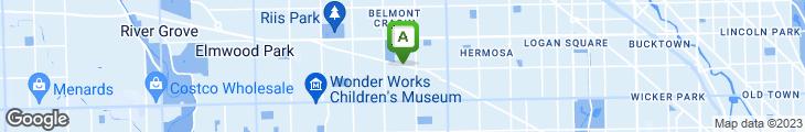 Map of Grand Avenue Shrimp House