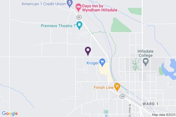 Map of Hillsdale Preparatory School (Elementary)