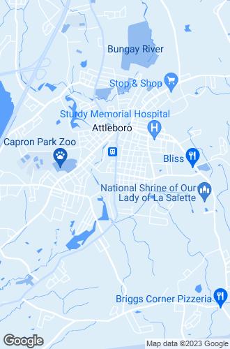 Map of Attleboro