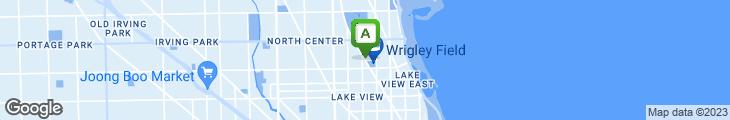 Map of Yak-Zies Wrigleyville