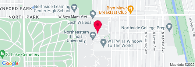 Map for Fine Arts Center Recital Hall, Northeastern Illinois University