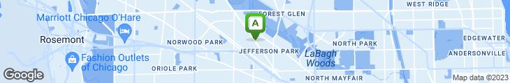 Map of Papa Joe's Pizza