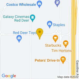 Map to The Hideout ( Red Deer ) provided by Google