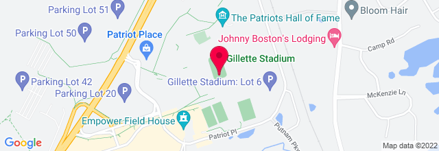 Map for Gillette Stadium