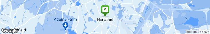 Map of Norwood Shwarma
