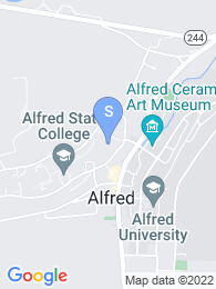 SUNY Alfred map