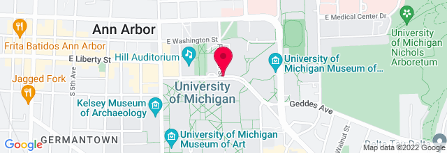 Map for Hill Auditorium