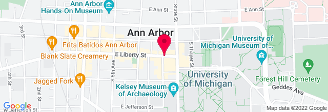 Map for Michigan Theater