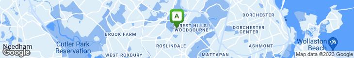 Map of Arboretum Grill