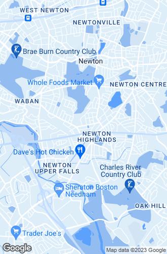 Map of Newton Highlands