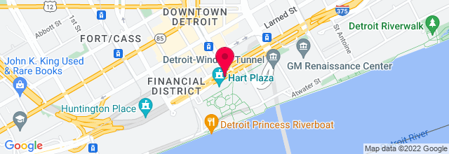 Map for Philip A. Hart Plaza
