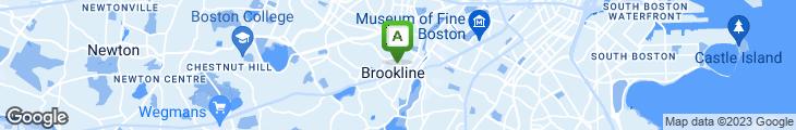 Map of Brookline Family Turkish Restaurant