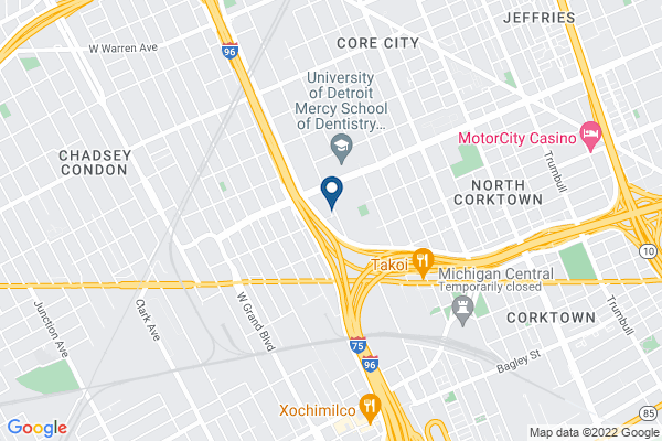 Map of Covenant House Academy Detroit (Central)