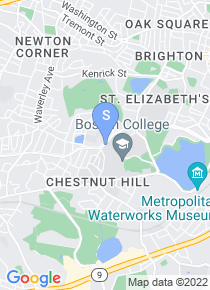 Boston College map