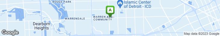 Map of Amani's Restaurant