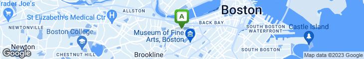 Map of Boston Billiard Club