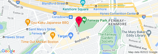 Map for Fenway Park
