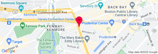 Map for Berklee Performance Center
