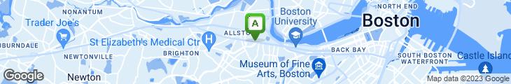 Map of Allston Village Pizza & Grill
