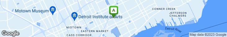 Map of Grandy's Coney Island