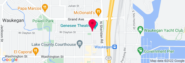 Map for Genesee Theatre