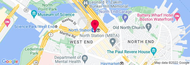 Map for TD Garden