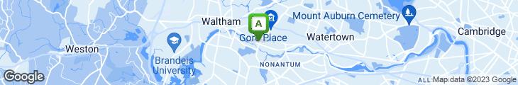 Map of D'Angelo Sandwich Shops