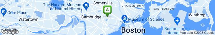 Map of Cambridge Coffee Shop