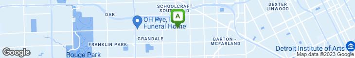 Map of Eunice's Bar-b-q-on The Run